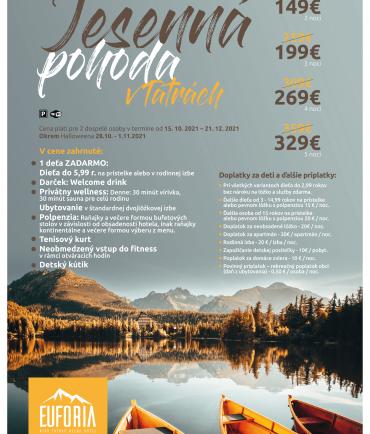 Autumn vacation in High Tatras (15.10-21.12.2021)