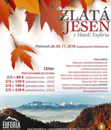 LASTMINUTE: Élvezze a gyönyörű őszi időszakot a Magas-Tátrában (15.10.-30.11.2018)