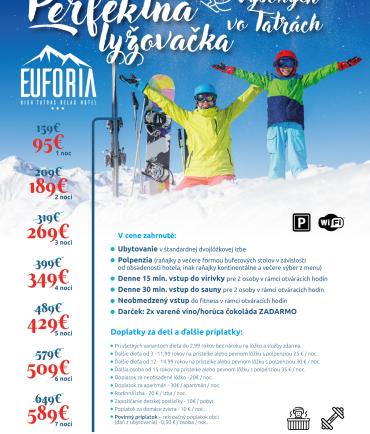 Perfektná lyžovačka vo Vysokých Tatrách (9.1.-31.3.2022)