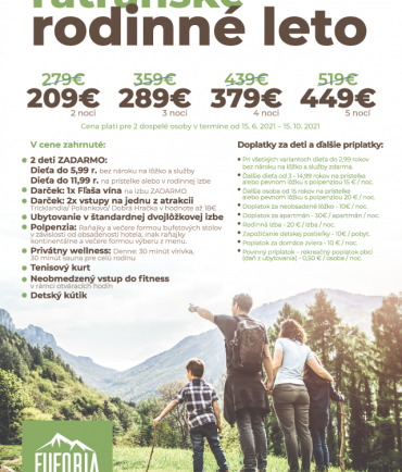 Family summer in High Tatras (15.6.-15.10.2021)