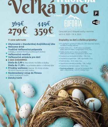 Traditional Easter at hotel Euforia*** (9.4-14.4.2020)