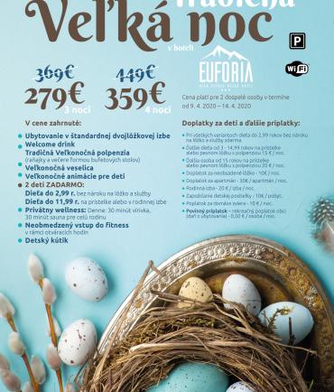 Tradičná Veľká Noc v hoteli Eufória*** (9.4-14.4.2020)