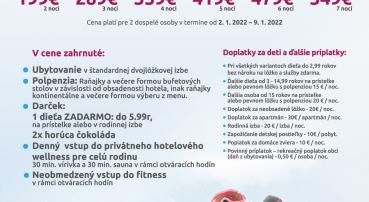 Novoročná lyžovačka vo Vysokých Tatrách v Eufórii (2.1.-9.1.2022)