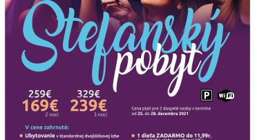 Štefanský pobyt plný zábavy v Eufórii (25.12.-28.12.2021)